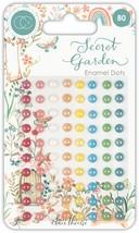 Craft Consortium Adhesive Enamel Dots 80/Pkg-Secret Garden - $19.31