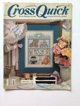 Cross Quick Cross Stitch  Magazine June July 1989 Volume 1 Number 5 - $4.94