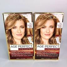 L'Oreal Paris Age Perfect Excellence Creme - 7G Dark Soft Golden Blonde x 2 - $23.36