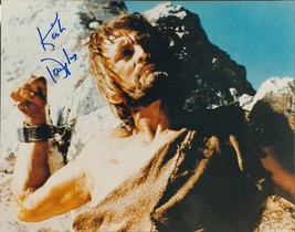 "Kirk Douglas signed ""chained"" color photo. Spartacus. - $29.95"