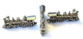 TRAIN ENGINE FIGURINE CAST WITH FINE PEWTER - Approx. 1 1/4 inch Long (T163) image 3
