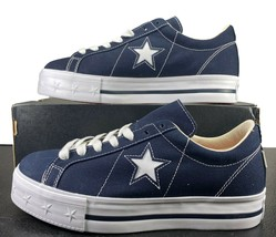 Converse One Star Platform Ox Lift Sneaker Blue 564031C 11 Women - $69.95