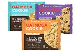 Oatmega Grass Fed Whey Protein Cookies 12 Packs (3 Flavor Sampler Pack) - $39.59