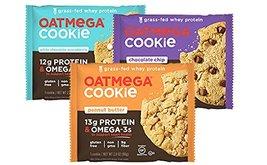 Oatmega Grass Fed Whey Protein Cookies 12 Packs (3 Flavor Sampler Pack) - $39.59