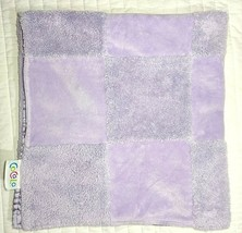 CoCalo Baby Girl Purple Patchwork Blanket Satin Backside Lovey 30x30 Security - $20.03