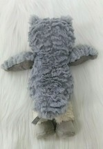 """10"""" Mary Meyer Marshmallow Swoops Owl Gray Cream Soft Toy Plush Lovey B213 image 2"""