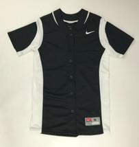 Nike Vapor Full-Button Softball Performance Jersey Women's Large Black 6... - $28.70