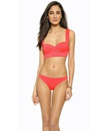 NWT KATE SPADE swimsuit XS bikini 2PC bralette underwire zip geranium cl... - $81.47