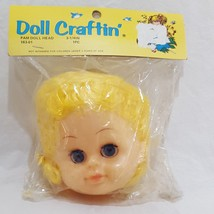 """1985 Sew-On Embroidered Fabric 3//4/"""" Green Doll Eyes NOS NIP Kittay /& Blitz"""
