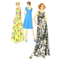70s Vintage Simplicity Sewing Pattern 6397 Misses Muu Muu Draped Back Wa... - $39.95