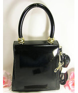 New Black Patent Vynal Hand Bag Purse Evening Everyday Include Handle & ... - $18.99