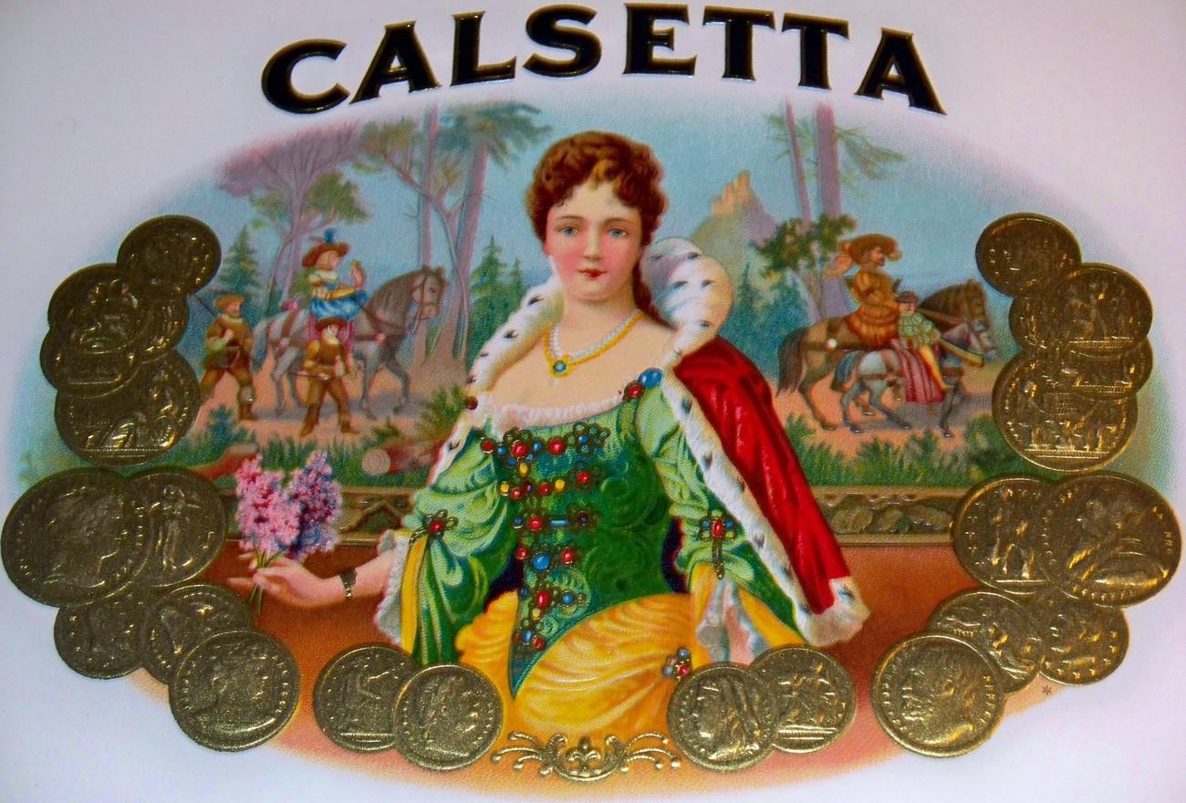 Calsetta cigar label 002