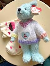 New Valentines Gift Heart Socks 5-7 Ty Flynn Be Mine Bear Attic 2000 Gymboree - $14.45