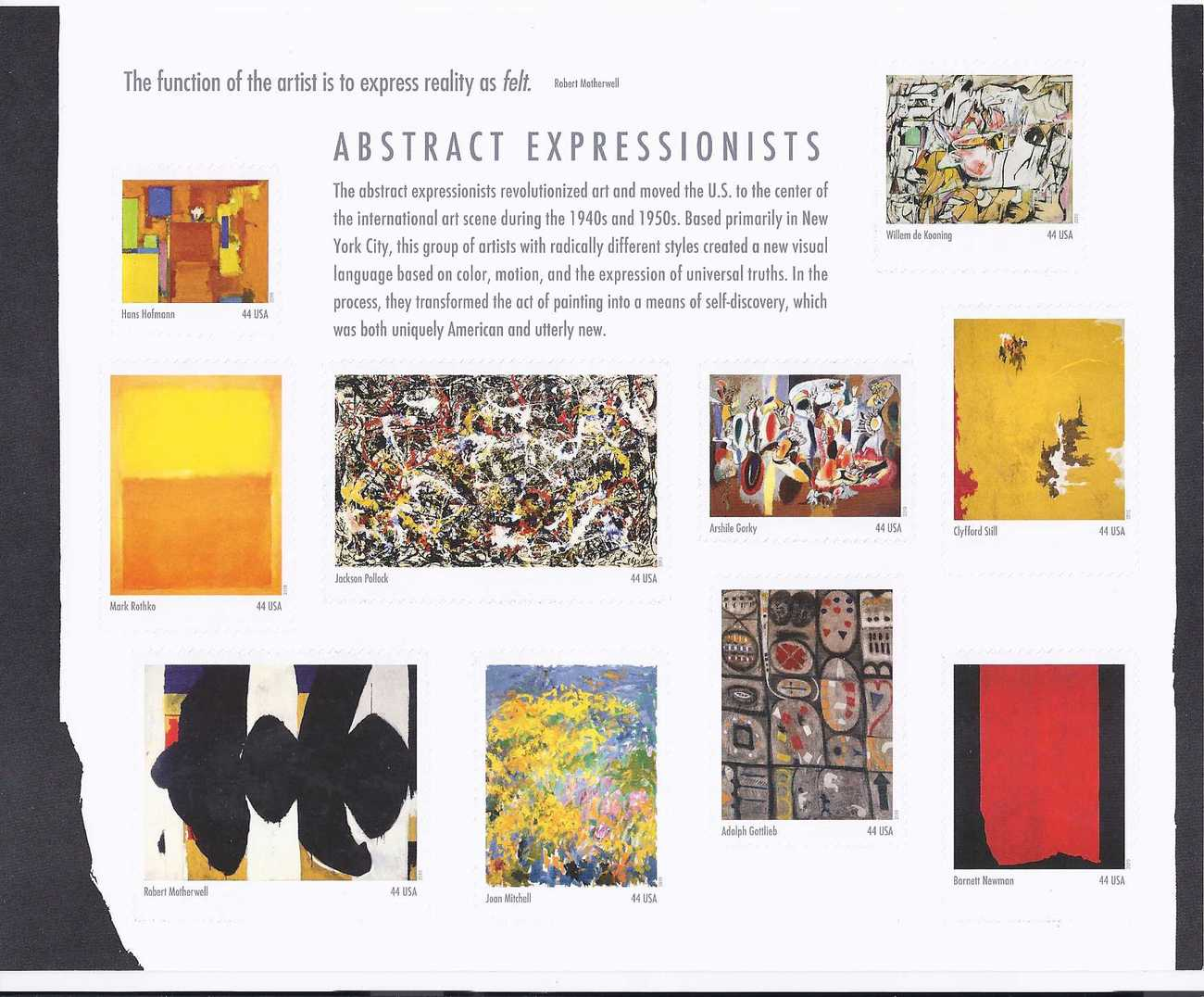 Stamps abstract expressionists