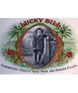 Lucky Bill Embossed Inner Cigar Label, 1910's - $14.99