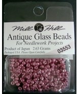 Mill Hill Antique Glass Beads for Needlework Projects 03553 Satin Old Rose - $1.25