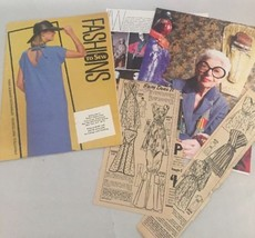 Vintage Fashion Patterns Newspaper Clippings Catalog Spring Summer 1984 ... - $35.14