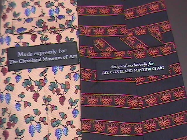 Cleveland Museum of Art Neck Ties Two Silk Ties