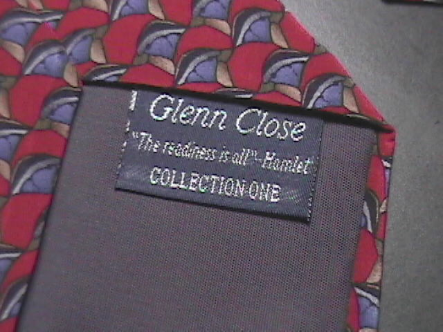 Christopher Reeves Neck Tie Collection One Glenn Close with Hamlet Quotation