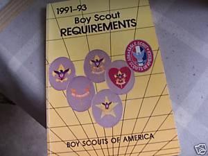 1991 93 official boy scout requirements  merit badges