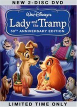 Lady and the Tramp DVD (Two-Disc 50th Anniversary Platinum Edition) - $10.00