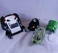 Kung Zhu Zhu Pets Lot RIVET & DRAYKO Battle Armor & Spider Skull Tank Ha... - $17.59