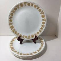 "Set of 6 Dinner Plates Butterfly Gold Corelle Corning 10.25"" - $24.18"