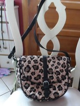 Vera Bradley Quilted Slim Saddle Bag Leopard Shoulder Messenger  - ₹2,564.34 INR