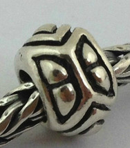 Authentic Trollbeads 925 Silver Retired Angles Triangles Bead Charm 11136, New - $20.89