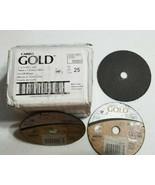 "Box of 25 - Carbo Gold Cut-Off Wheels 3""x1/16""x1/4"" - MPN 09623 - NEW - $24.49"