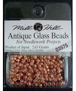 Mill Hill Antique Glass Beads for Needlework Projects 03575 Satin Coral - $1.25