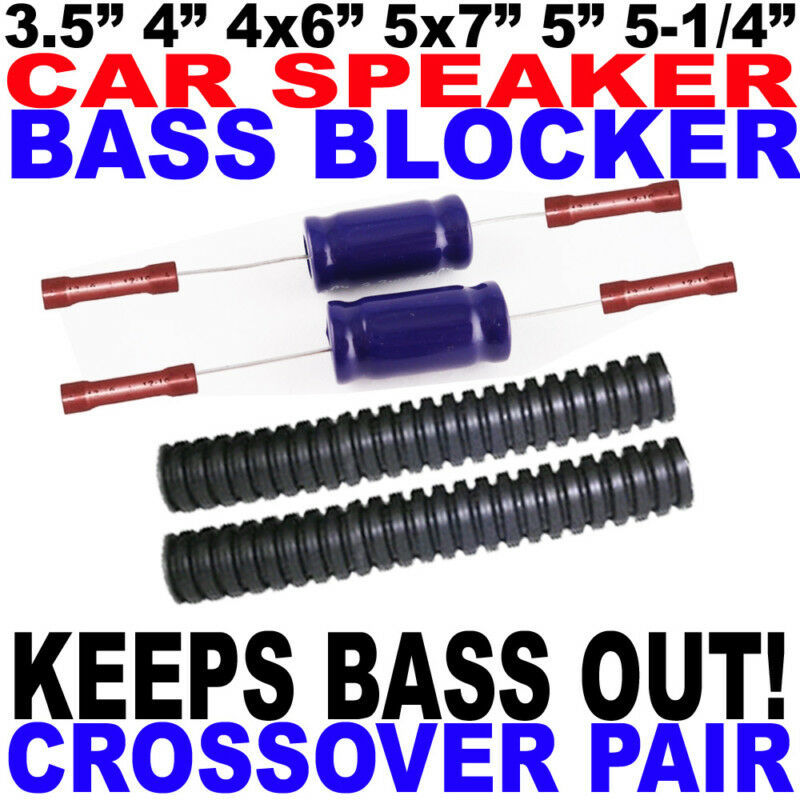 """Pair 2 Bass Blockers Passive Protector Crossovers for 3.5/"""" 4/"""" or 4x6/"""" Speakers"""