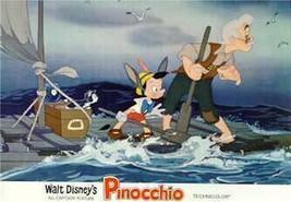 Disney Gepetto Figero Pinocchio Raft Lobby Card Walt Disney Productions - $24.18