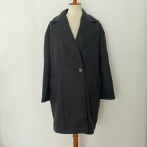 NEW TOPSHOP Size 10 Carly Coat Single Button Notched Lapel Black $125 - $48.09