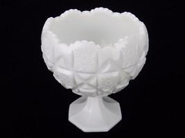 "Vintage Westmoreland Pedestal Candy Dish,Old Quilt Design 6.25"" x 5"" Milk Glass - $12.69"