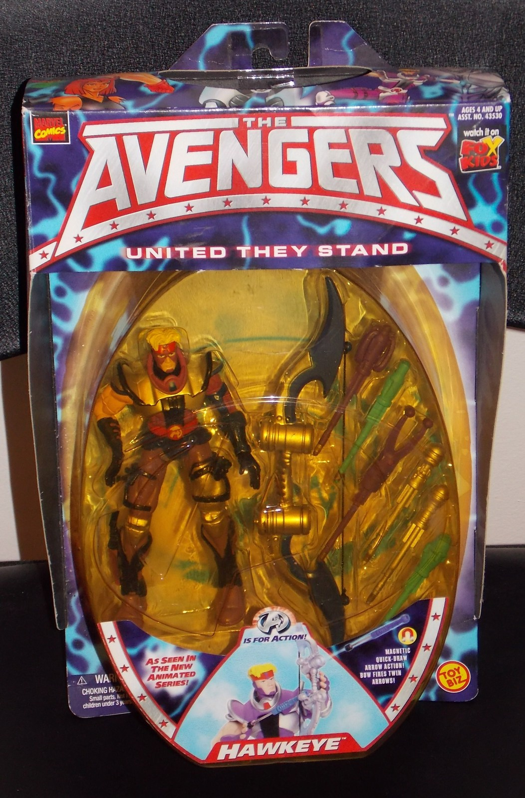 1999 Marvel Comics The Avengers Hawkeye Figure New In The Package