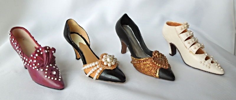 Collectable Shoes -Lot of Four Vintage Inspired - Various Colors and Styles #404