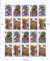FOLKLORE HEROES - 20 (USPS) MINT SHEET STAMPS .32 CTS - $13.95