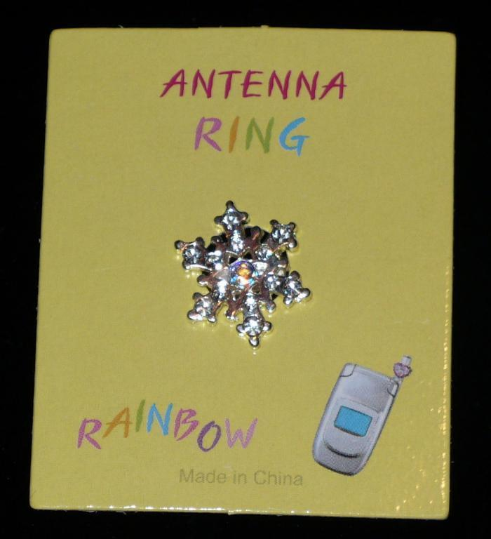 SNOWFLAKE Cell Phone Antenna Ring