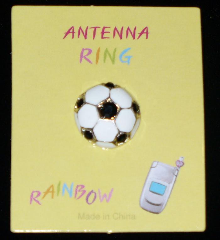 SOCCER BALL Cell Phone Antenna Ring