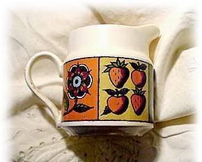 1964 Homer Laughlin Flower and Fruit Creamer Bonanza
