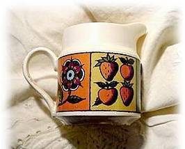 1964 Homer Laughlin Flower and Fruit Creamer - $5.95