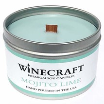 WOODEN WICK Aromatherapy Candle - Wine Scented Soy Wax Mojito Lime