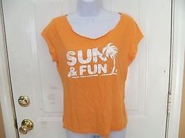 American Eagle Outfitters Orange Sun & Fun T-shirt Size Large Women's EUC - $12.80