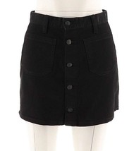 Denim & Supply Ralph Lauren Women's Button Front Denim Skirt Black 32 - $44.30