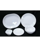 Corelle Winter Frost White Lot of 13 Dinner Plates Dessert Plate Bowl Pl... - $48.99