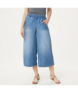 Side Stitch Tencera Pull-On Wide Leg Crop Pants with Pockets Vintage Mal... - $74.24