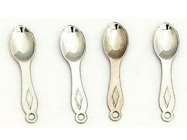 Silver Spoon Charms, Set of 4