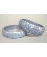 Blue wood bracelet set  12 thumbtall
