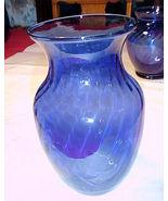 """Indiana Glass Flower Vase#1282;Cobalt blue;8"""";4""""OPENING;6""""DIAMETER;ROSES... - $10.99"""